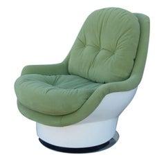 Italian Midcentury Swivel Chair by Cesare Casati & Enzo Hybsch