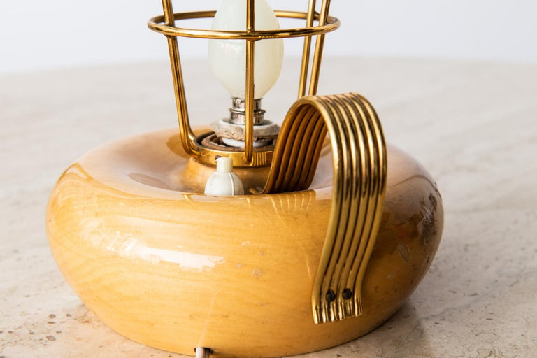 Italian Midcentury Table Lamp by Aldo Tura for Aldo Tura Milano, circa 1950s In Good Condition For Sale In Southhampton, NY