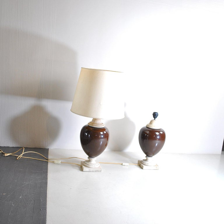Italian Midcentury Table Lamps For Sale 4