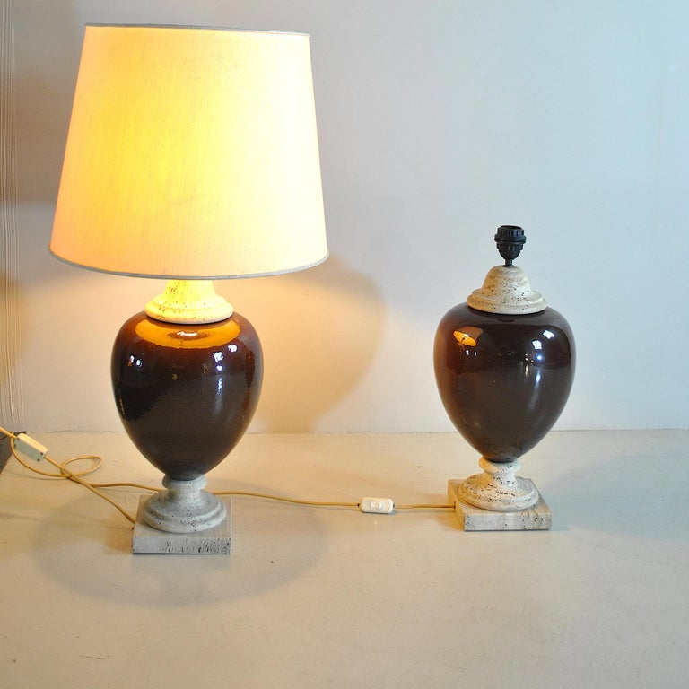 Italian Midcentury Table Lamps For Sale 5