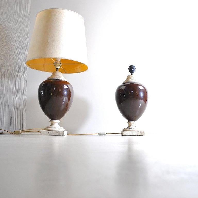 Ceramic Italian Midcentury Table Lamps For Sale