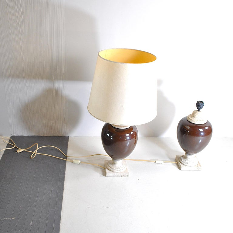 Italian Midcentury Table Lamps For Sale 3