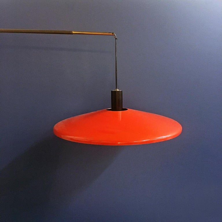 Mid-Century Modern Italian Midcentury Telescopic Wall Lamp Stilnovo in Solid Wood and Metal, 1950s For Sale