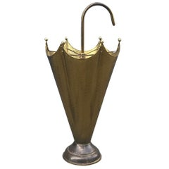 Italian Midcentury Umbrella Stand in Brass, 1950s