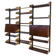 Italian Mid-Century Wall Mounted Bookcase by Feal, 1960s