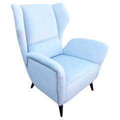 Italian Midcentury Wing Chair