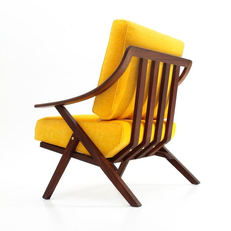 Italian Midcentury Yellow Armchair, 1960s For Sale at 1stdibs