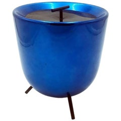 Italian Midcentury Aluminum Table Ice Bucket Mod. 510 by Munari for Tre A, 1955