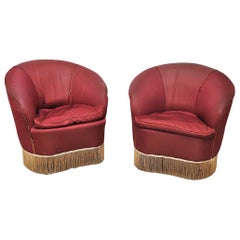 Italian Midcentury Armchairs in Gio Ponti for Casa e Giardino Style