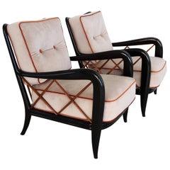 Italian Midcentury Armchairs Restored in Paolo Buffa Style, 1950s