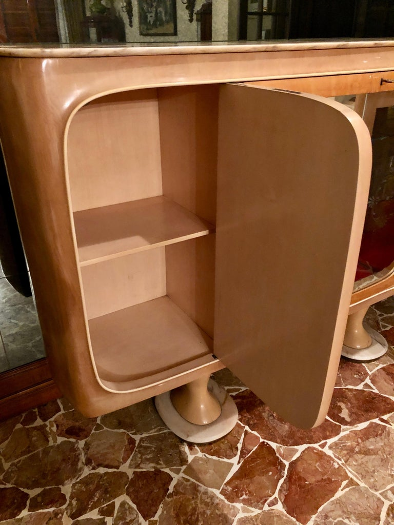 Italian Midcentury Birch Sideboard Cabinet Bar by Marelli & Colico, 1950s For Sale 9