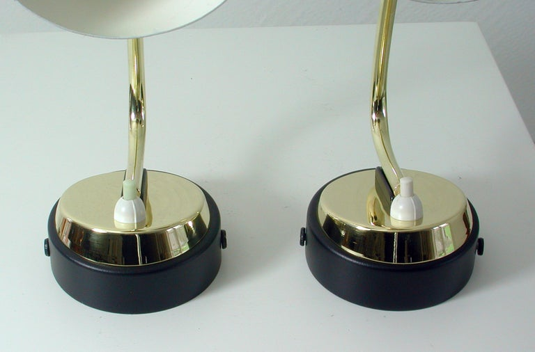 Italian Midcentury Black and Brass Sputnik Sconces Wall Lights, 1950s For Sale 2