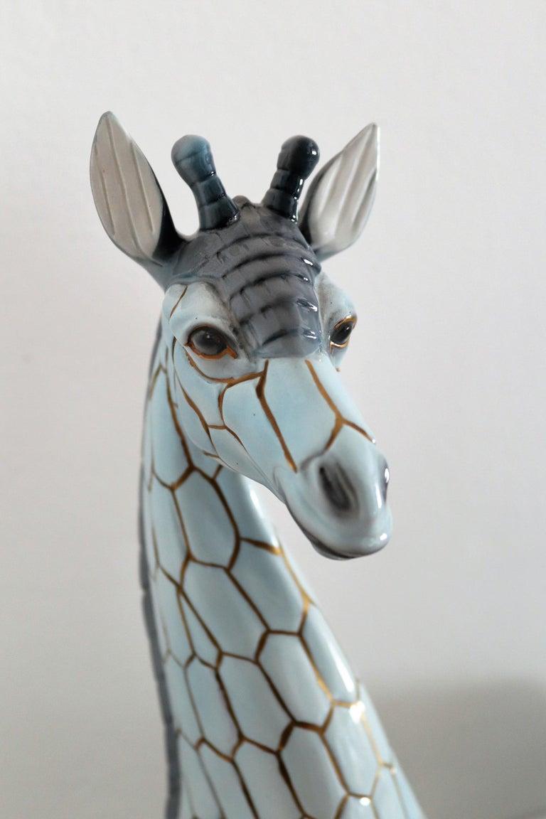Italian Midcentury Ceramic Giraffe by Giovanni Ronzan, Turin 1950s, Set of Two For Sale 5