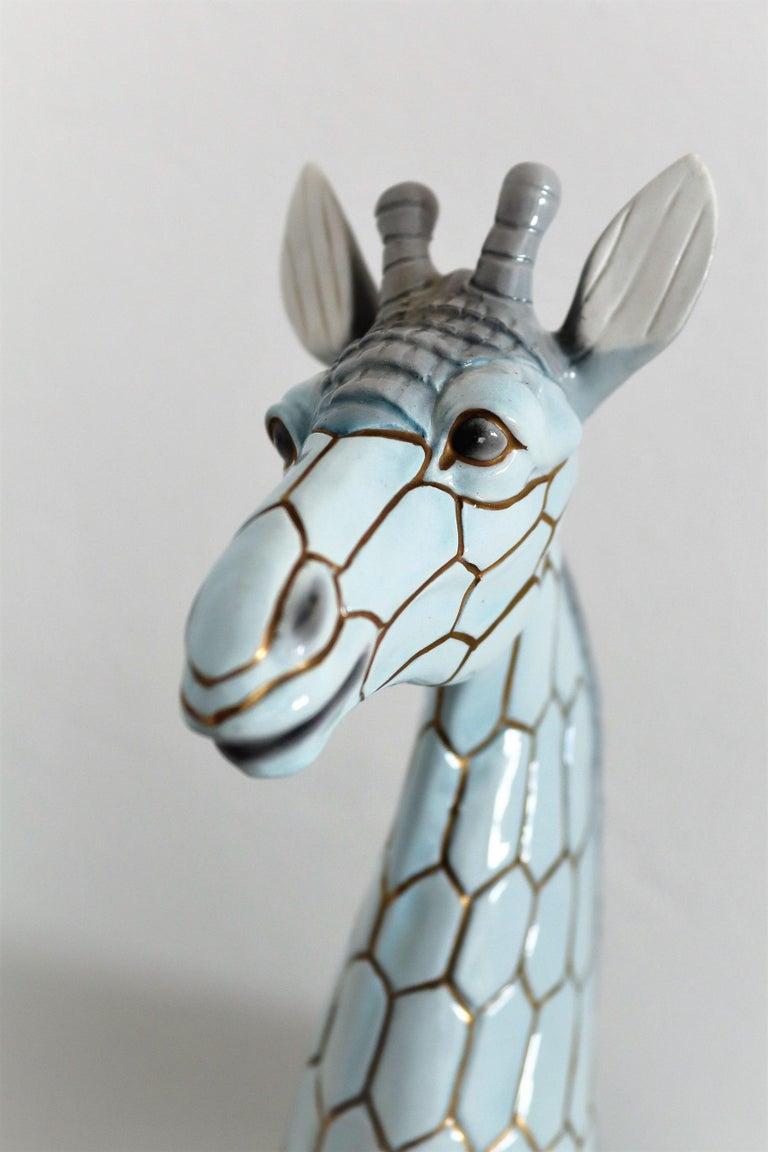 Italian Midcentury Ceramic Giraffe by Giovanni Ronzan, Turin 1950s, Set of Two For Sale 6