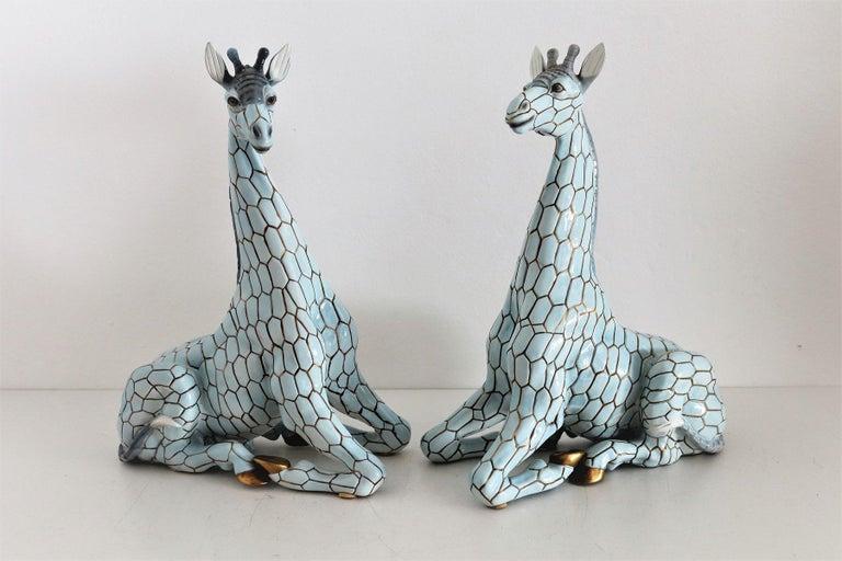 Italian Midcentury Ceramic Giraffe by Giovanni Ronzan, Turin 1950s, Set of Two For Sale 8