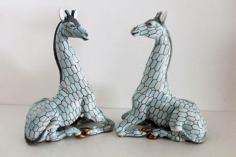 Italian Midcentury Ceramic Giraffe by Giovanni Ronzan, Turin 1950s, Set of Two For Sale 12