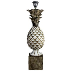 Italian Midcentury Ceramic Pineapple Lamp