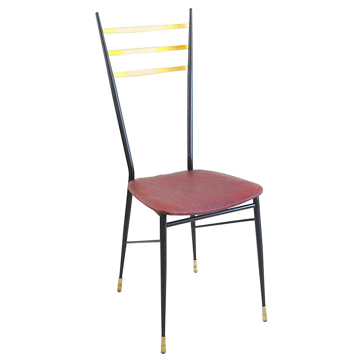 Italian Midcentury Chair in Brass