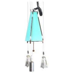 Italian Midcentury Chandelier in the Atomic Style from the 1950s