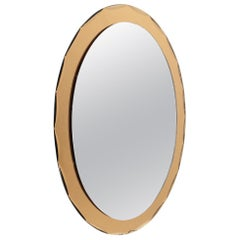 Italian Midcentury Colored Mirror, 1970s