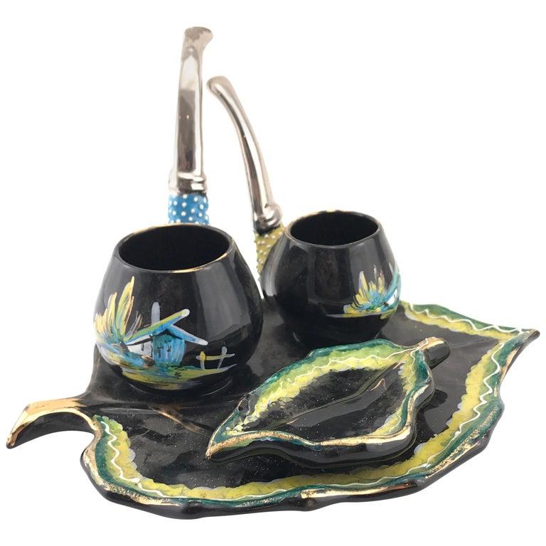 Italian Midcentury Decorative Ceramic by Osvaldo Gualdo Dolci, 1950s For Sale