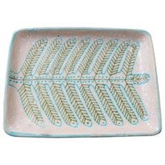 Italian Midcentury Decorative Ceramic Tray by Guido Gambone 'circa 1950s'