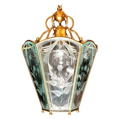 Italian Midcentury Delicious Brass Lantern in the Style of Pietro Chiesa