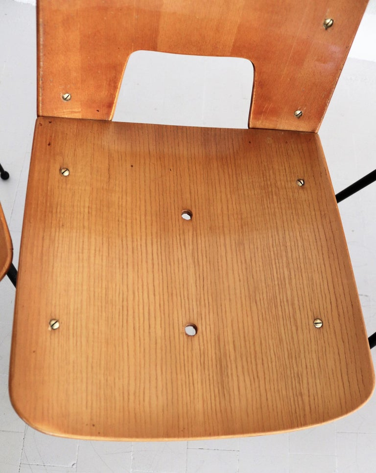 Italian Midcentury Dining Chairs by Carlo Ratti for Legni Curva, 1950s 12