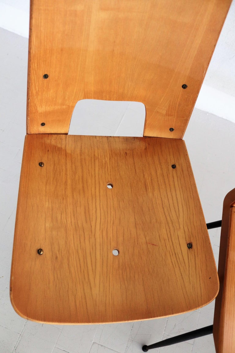 Italian Midcentury Dining Chairs by Carlo Ratti for Legni Curva, 1950s 13