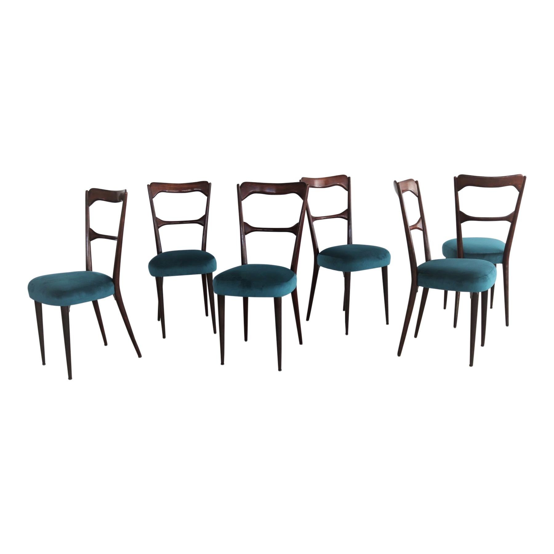 Italian Midcentury Dining Chairs in Paolo Buffa Style, 1950s