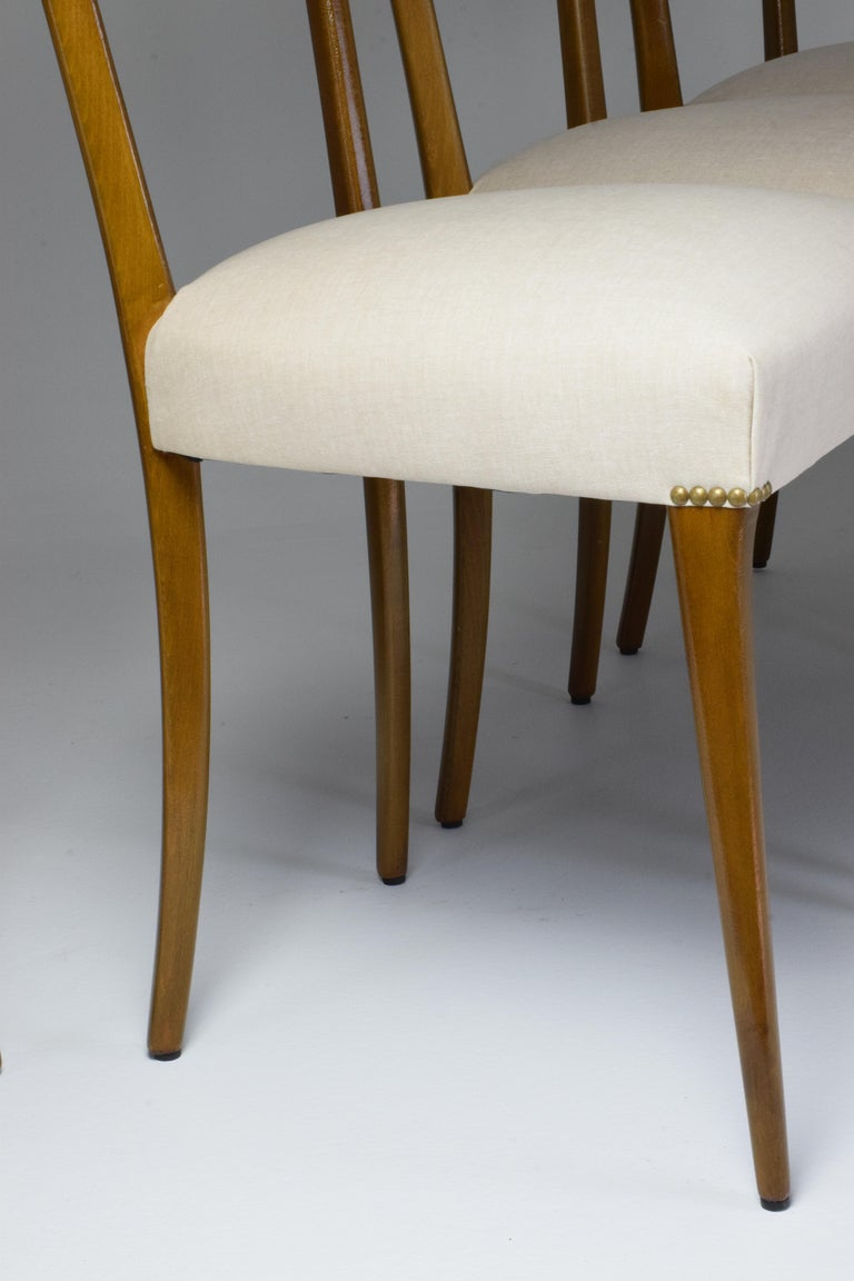 Italian Midcentury Dining Chairs, Set of 6, 1950s For Sale 4