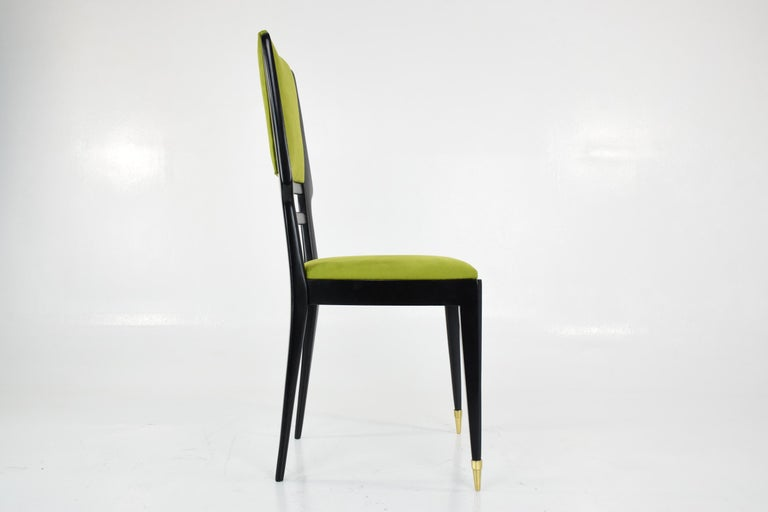 Italian Midcentury Dining Chairs, Set of 6, 1950s For Sale 5