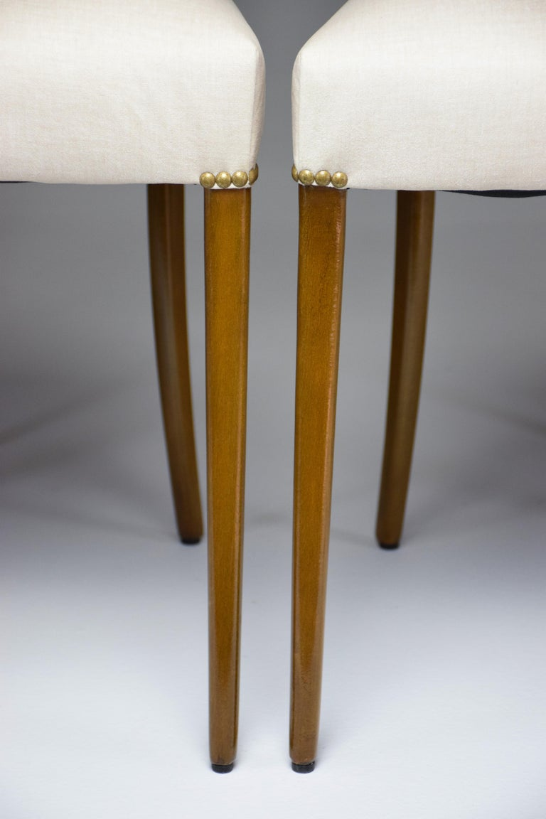 Italian Midcentury Dining Chairs, Set of 6, 1950s For Sale 6