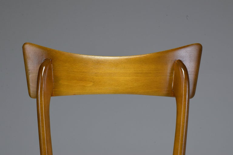 Italian Midcentury Dining Chairs, Set of 6, 1950s For Sale 10