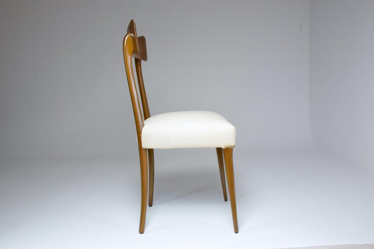 Italian Midcentury Dining Chairs, Set of 6, 1950s For Sale 1