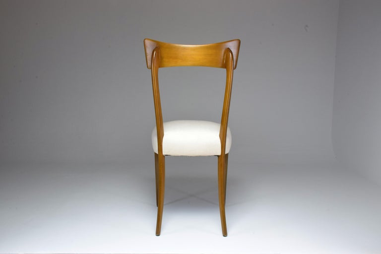 Italian Midcentury Dining Chairs, Set of 6, 1950s For Sale 2