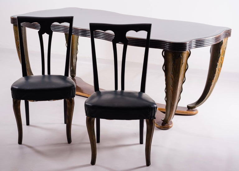 Italian, Midcentury Dining Table by Pier Luigi Colli, 1940 In Good Condition For Sale In Rome, IT