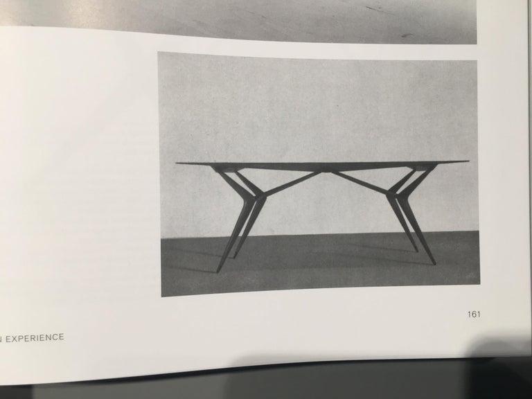 Italian Midcentury Dining Table / Desk Rosewood Wood Veneer by Ico Parisi 1950s For Sale 8
