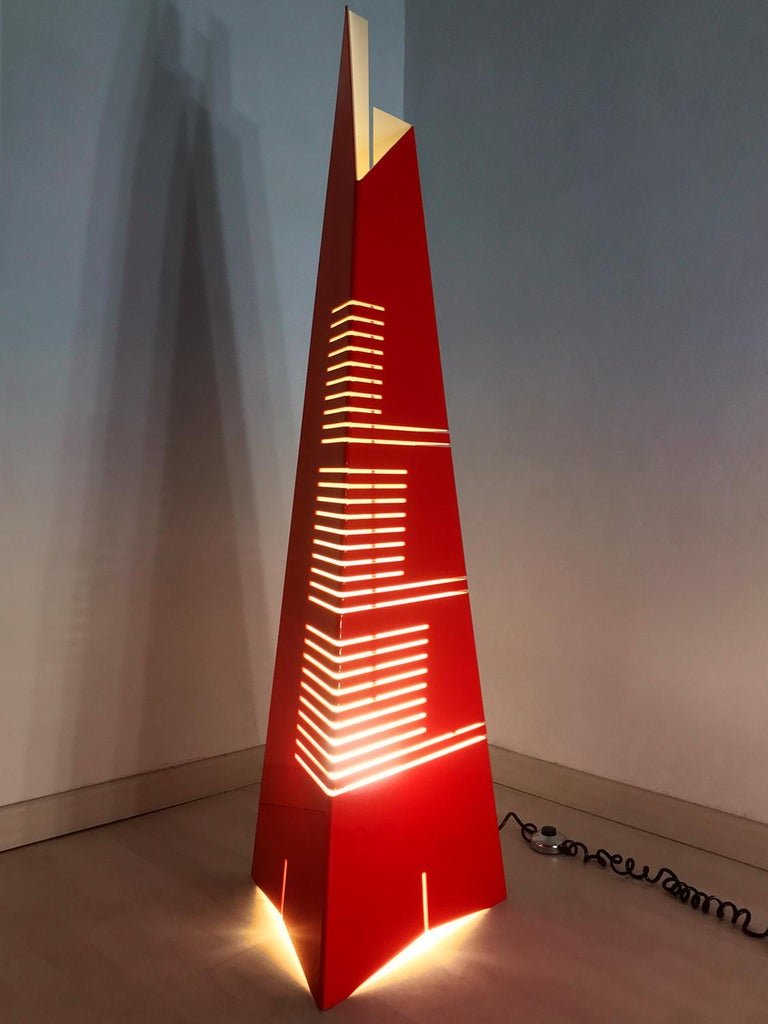 Mid-Century Modern Italian Mid-Century Floor Lamp 'Personaggi' by Enrico Tronconi, 1970s