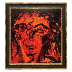Italian Midcentury Framed Lithograph