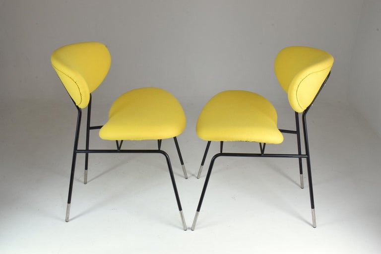 Mid-Century Modern Italian Midcentury Gastone Rinaldi Chairs for RIMA, Set of Two, 1950s For Sale