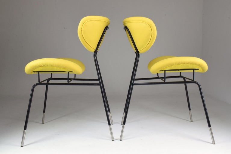 Iron Italian Midcentury Gastone Rinaldi Chairs for RIMA, Set of Two, 1950s For Sale