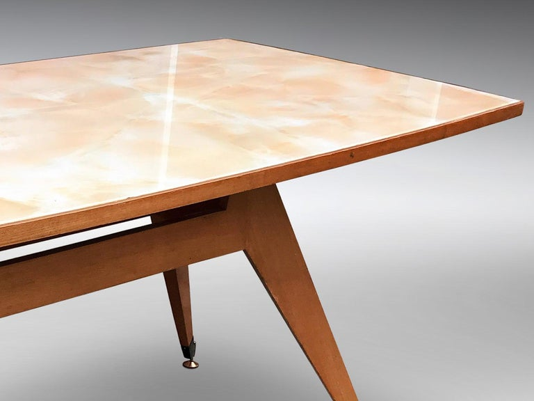 Italian Midcentury Geometric Dining Table Melchiorre Bega Style, 1950s For Sale 6