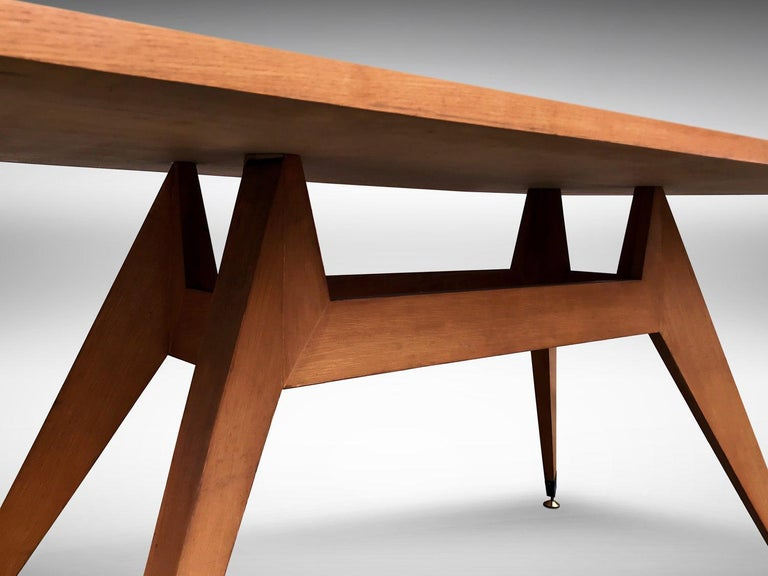 Italian Midcentury Geometric Dining Table Melchiorre Bega Style, 1950s For Sale 2