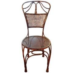 Italian Midcentury Gilt Iron Rope Chair