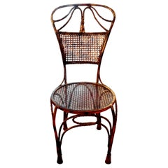 Italian Midcentury Gilt Iron Rope Chair
