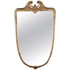 Italian Midcentury Giltwood Mirror, 1950