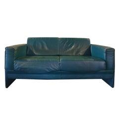 Italian Midcentury Leather Sofa
