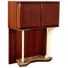 Italian Midcentury Mahogany Bar Cabinet in the Style of Dassi, 1950s