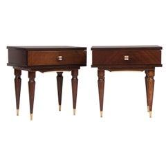 Italian Midcentury Mahogany Bedside Tables